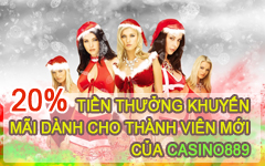 20% BONUS FOR PROMOTION OF NEW MEMBERS UP TO 8.889 million Casino889